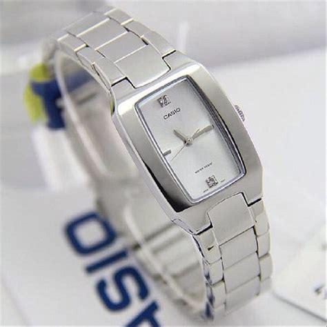 Jam Tangan Casio Cewek Wanita jual promo jam tangan wanita silver ltp 1165a 7 casio