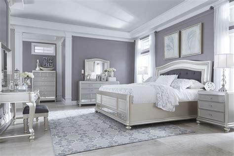 ashley furniture coralayne panel bedroom set  silver