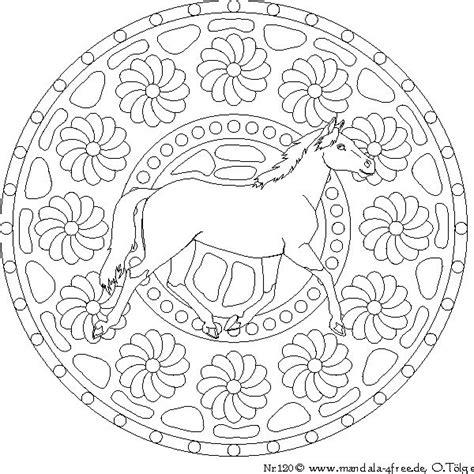 mandala  coloring  mandala pferd ausmalbilder