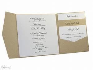 wholesale invitation cards 150mm square short side With side pocket fold wedding invitations