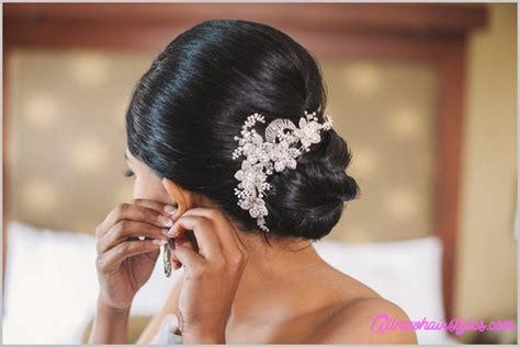 bridal hairstyles  bun  flowers allnewhairstyles