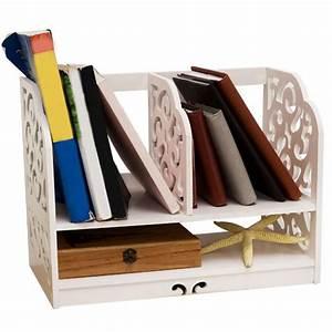 Nc, White, Office, Desk, Organizer, Openwork, Freestanding, Book, Home, Desk, Stationery, Storage, Organizer
