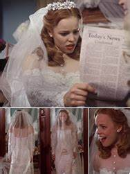 iconic wedding dresses in film With the notebook wedding dress