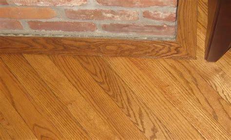 Crooked/Slanted hearth   gunstock oak 2 1/4 inch hardwood