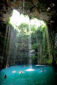 Hidden Cave Pool In Mexico
