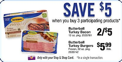 Hannafords, stop & shop, wegmans, whole hannafords, stop & shop and wegmans will be close early, at 3 p.m., 5 p.m. Free Turkey Bacon at Stop & Shop!   JerseyCouponMom.Com