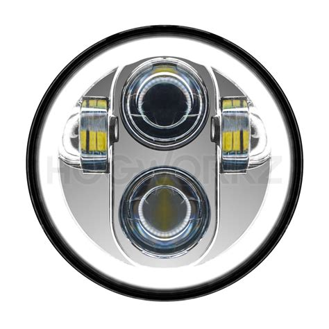 5 3 4 daymaker replacement chrome 5 3 4 quot led halomaker harley daymaker replacement