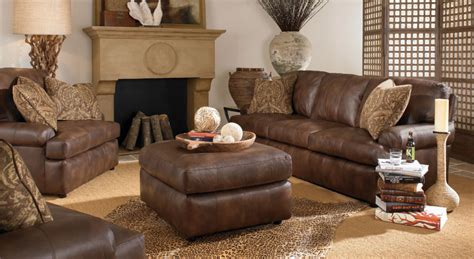 rustic leather living room decor modern home design ideas
