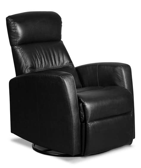 genuine leather swivel rocker reclining chair