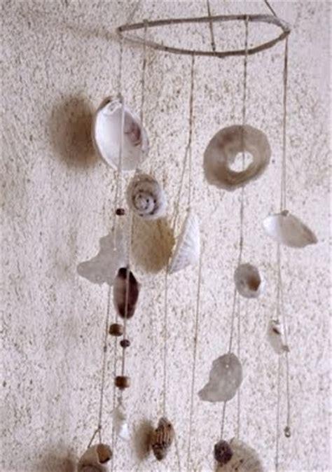 hanging shells driftwood seaglass call  mobiles