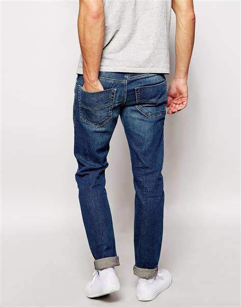 light wash skinny jeans mens lyst diesel jeans tepphar 837i skinny fit stretch light