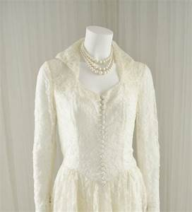 tea length lace wedding dress mid century 1950 ball gown With mid length lace wedding dress