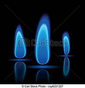 ガス, 炎 - ベクトル, イラスト, の, a, ガス, 炎, 上に, 黒 csp6331327のベクターイラスト ...