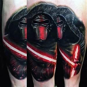 60 Lightsaber Tattoo Designs For Men Star Wars Ink Ideas