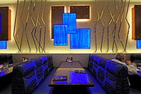 backlighting blue resin restaurant wall led light panel