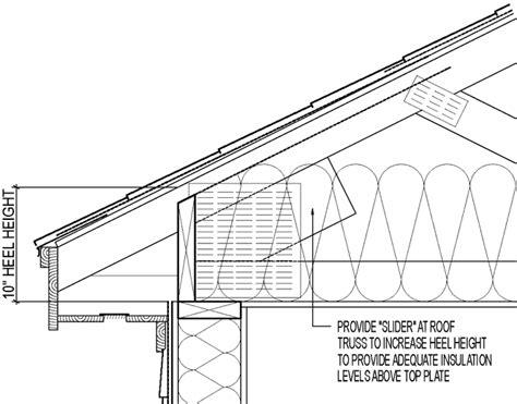 raised heel truss using slider greenbuildingadvisor