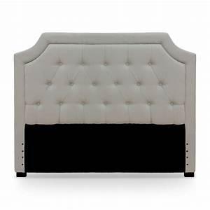 Tete Lit Capitonnée : t te de lit capitonn e tissu beige 140 ~ Premium-room.com Idées de Décoration