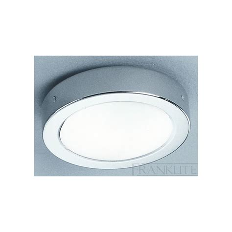 franklite cf1290 chrome flush bathroom ceiling light at