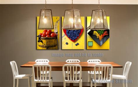 poster cuisine yellow modern abstract canvas painting print fruits