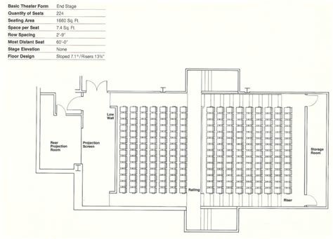 Theatre Style Seating Plan Template by How To Design Theater Seating Shown Through 21 Detailed