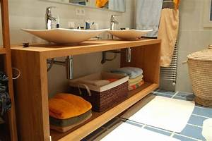 Meuble Sous Vasque Bois Massif : w salle de bain jac samson ~ Teatrodelosmanantiales.com Idées de Décoration