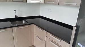 Plan De Travail Granit Pas Cher : plan de travail noir brillant awesome faades stratifi ~ Premium-room.com Idées de Décoration