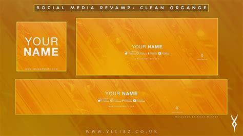 graphics social media revamp clean orange