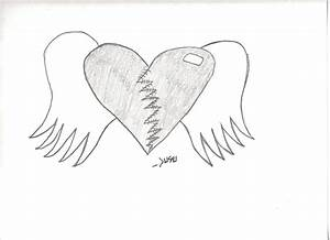 Heart With Wings Drawing - jazzi © 2016 - Jul 14, 2011