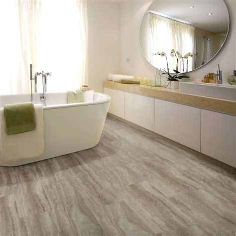 bathroom vinyl flooring b q sand effect waterproof luxury vinyl click flooring pack 2 17081