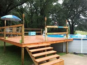 Above, Ground, Pool, Deck, Landscaping