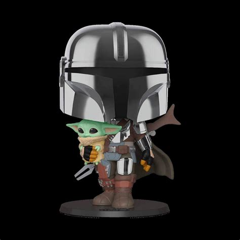 Funko POP Star Wars: Mandalorian - Chrome Mandalorian with ...
