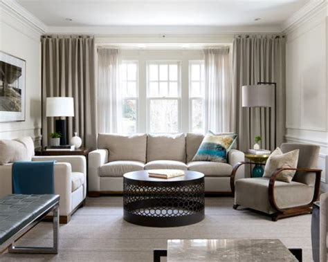 houzz living room curtains recessed window treatments houzz
