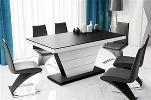 Esstisch Weiß Matt : design esstisch he 666 schwarz matt wei hochglanz kombination ausziehbar 160 208 256 cm ~ Yasmunasinghe.com Haus und Dekorationen