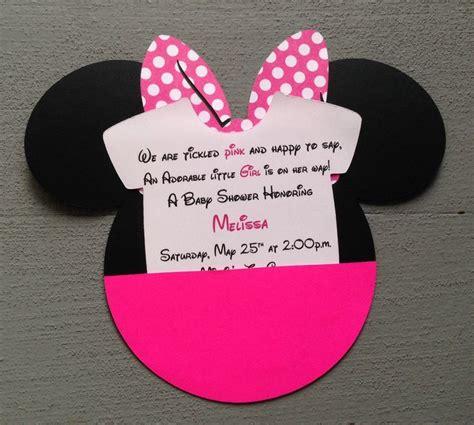 baby minnie mouse baby shower invitations dolanpedia