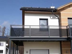 Balkongeländer Glas Anthrazit : balkongel nder mit querlattung und lochblech ~ Michelbontemps.com Haus und Dekorationen