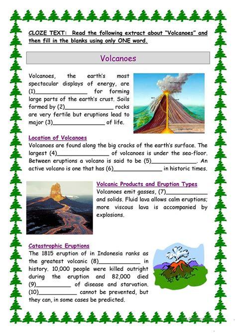 volcanoes worksheet free esl printable worksheets made