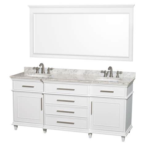 white double sink vanity shop wyndham collection berkeley white undermount double