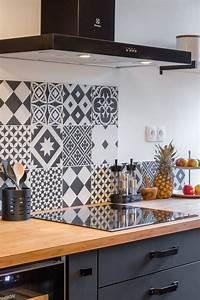 Carreaux De Ciment Autocollant : 10 cr dences d co pour la cuisine cocon d co vie nomade ~ Premium-room.com Idées de Décoration