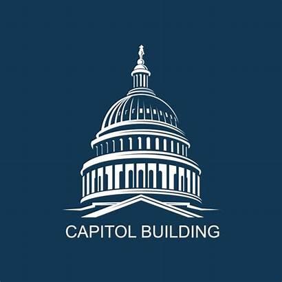 Capitol Building Washington Dc Icon Vector States