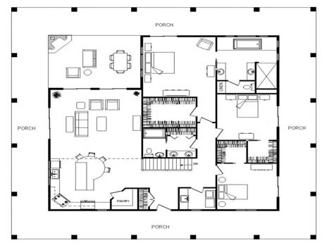 single story farmhouse  wrap  porch single story  sq ft house plans  level house