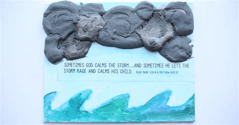 jesus calms  storm art  kids   teach  child