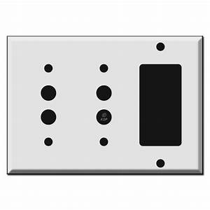 Combo Two Push Button And Gfci Decora Rocker Wall Switch