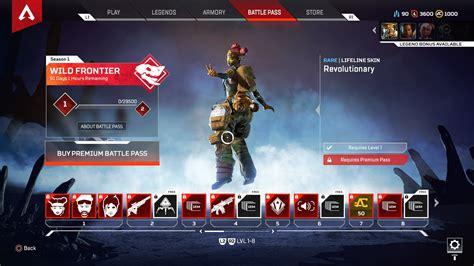 season apex legends pass battle tier date end tiers skin rewards wraith usgamer start reward release frontier wild mirage lifelife