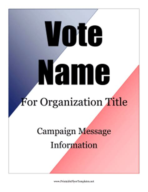 voting flyer templates free election flyer