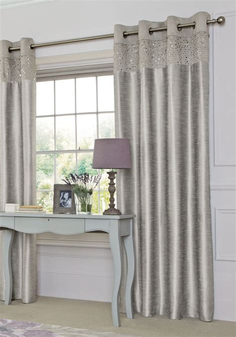 silver curtains from next decor ideas
