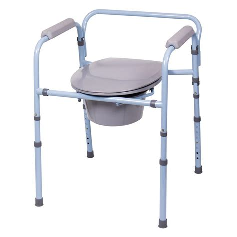 bedside commode chair liners carex health brands deluxe folding commode fgb34100 0000