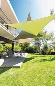 Toile Tendue Jardin : toile et voile d 39 ombrage pour terrasse comment les ~ Melissatoandfro.com Idées de Décoration