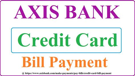 For an sbi credit cardholder, the bill when it comes to online payment of bills via another bank debit cards, sbi is currently reserved towards the debit cards of the following banks only Axis Bank Credit Card Payment | Bill Payment Online at Axisbank.com