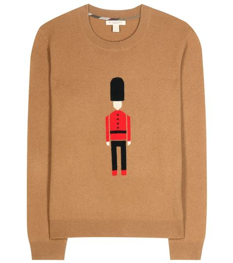 burberry sweater burberry brit wool and sweater in brown lyst