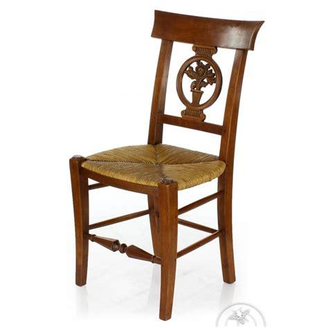 la chaise de bois chaise ancienne bois et paille fleurs saulaie